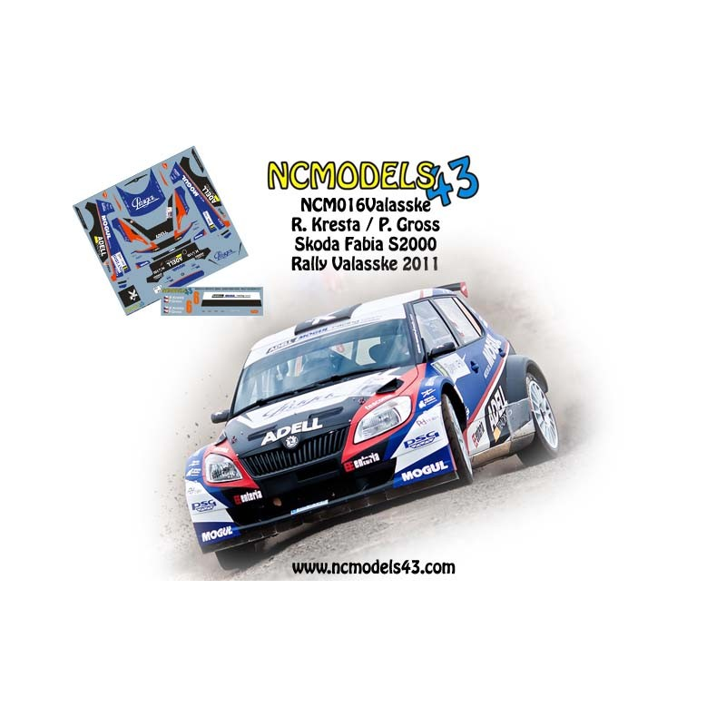 Decal 1/43 NCmodels43 - R. Kresta - Skoda Fabia S2000 - Rally Bohemia 2011