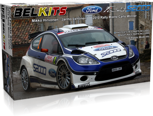 Plastic kit 1/24 - Ford Fiesta S2000 - winner Rally Monte Carlo 2010