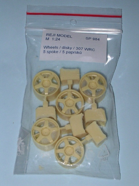 1/24 Reji Model - Wheels – O.Z. 18''/ Peugeot 307 WRC - 5 spoke / 5 pcs
