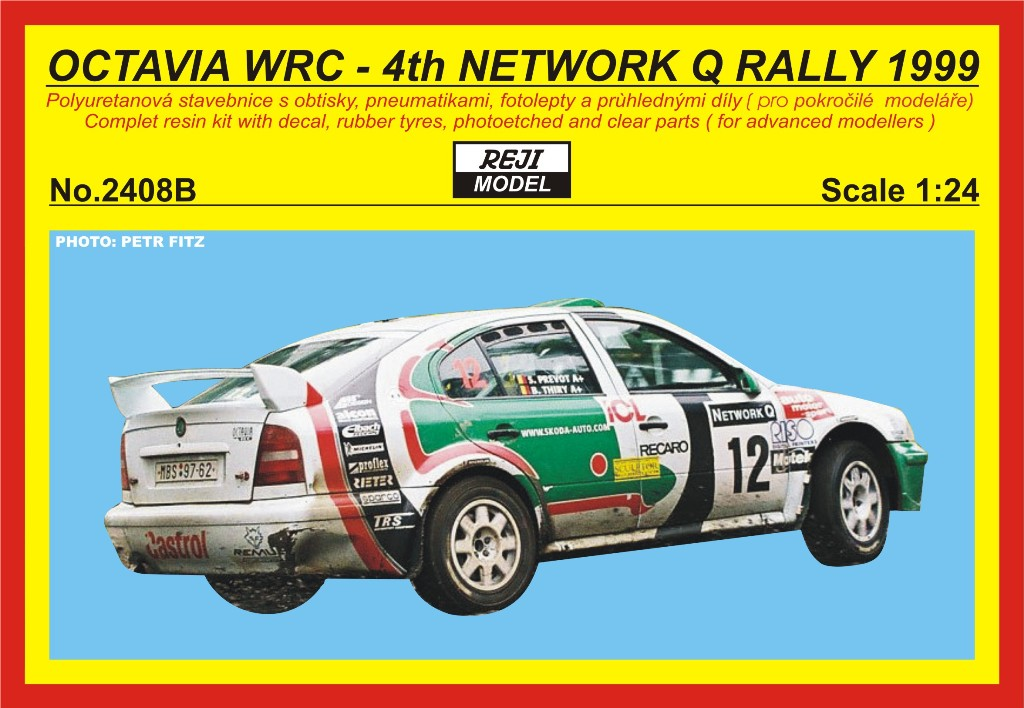 Resin kit 1/24 - Škoda Octavia WRC - Network Q rally 1999 - Thiry / Prevot