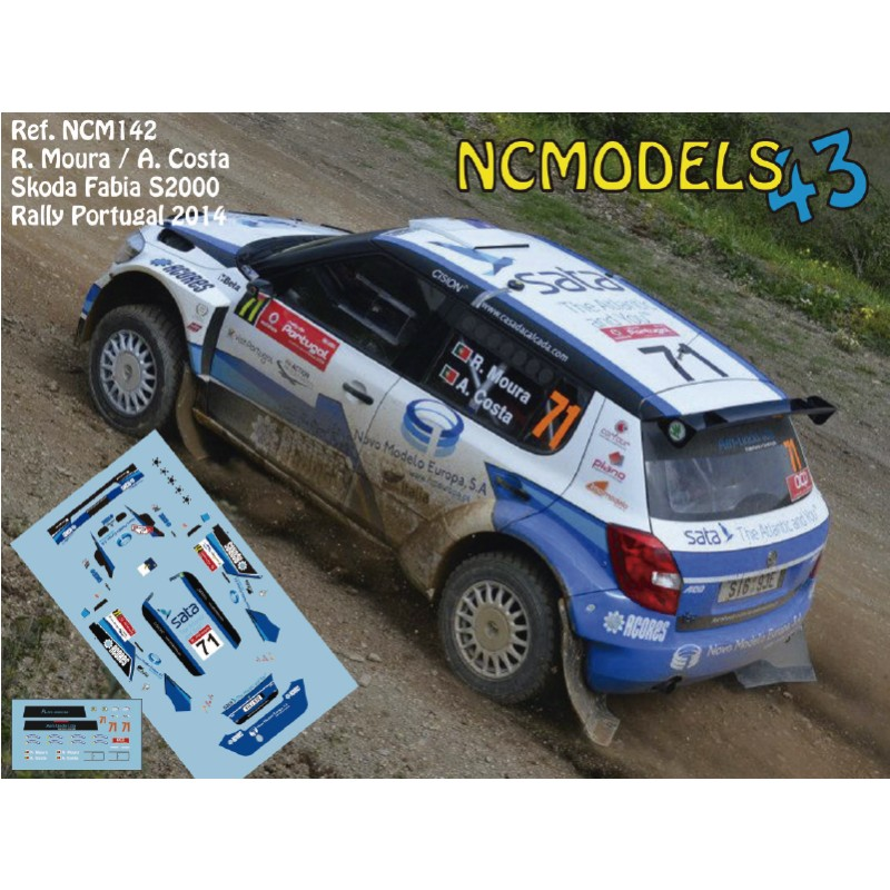 Decal 1/43 NCmodels43 - R. Moura/ Skoda Fabia S2000 - Rally Portugal 2014