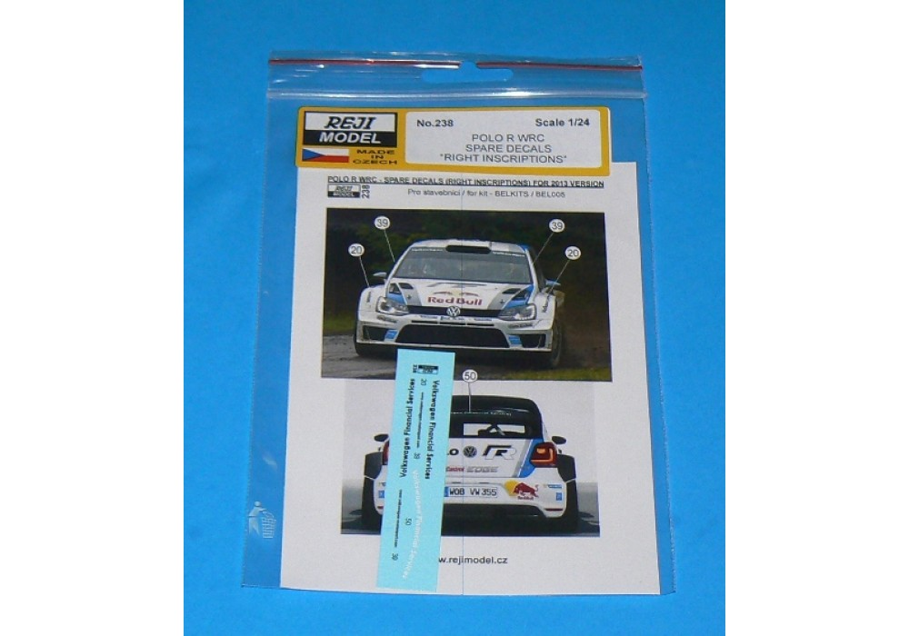 Decals 1/24 - VW Polo WRC - spare decals for 2013 version