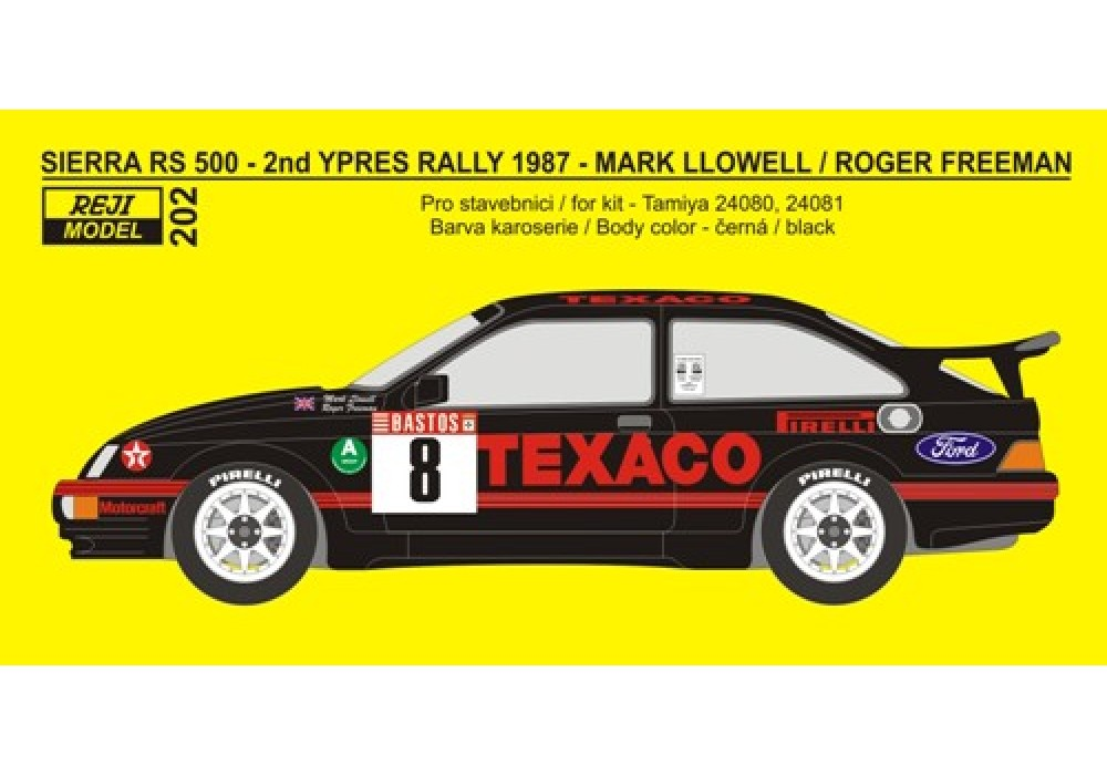 Transkit 1/24 Reji model - Ford Sierra 500RS - 2nd Ypres Rally 1987 - Llowell