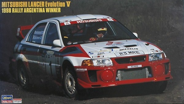 Plastic kit 1/24 - Mitsubishi Lancer Evo V - Winner Rally Argentina 1998