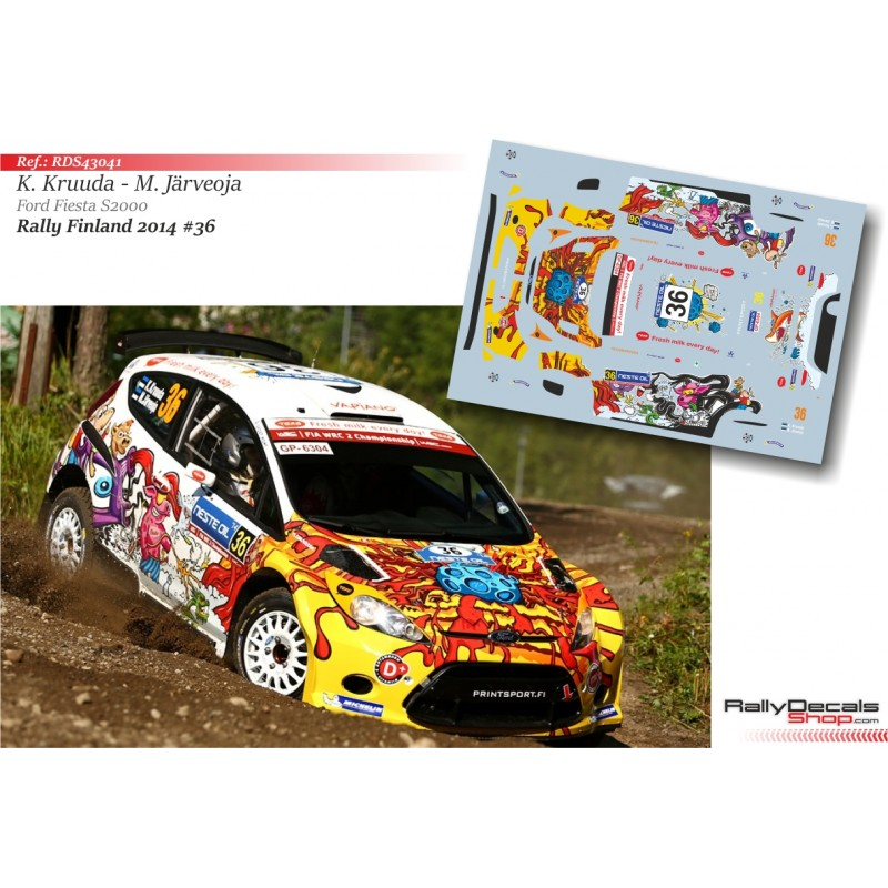 Decal 1/43 - Karl Kruuda - Ford Fiesta S2000 - Rally Finland 2014