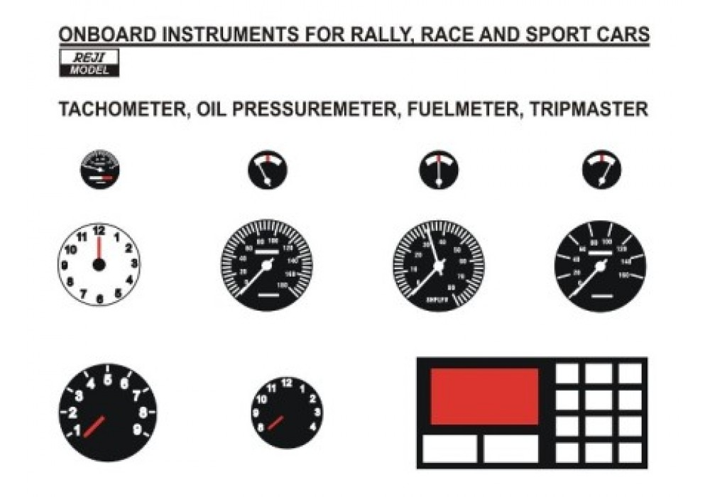 Decal 1/24 - Onboard instruments rally / sport cars