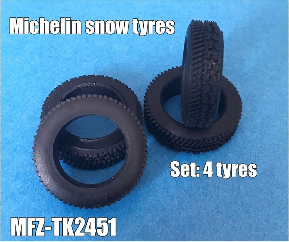 Transkit 1/24 MF Zone - Michelin snow tyres (4 piece)