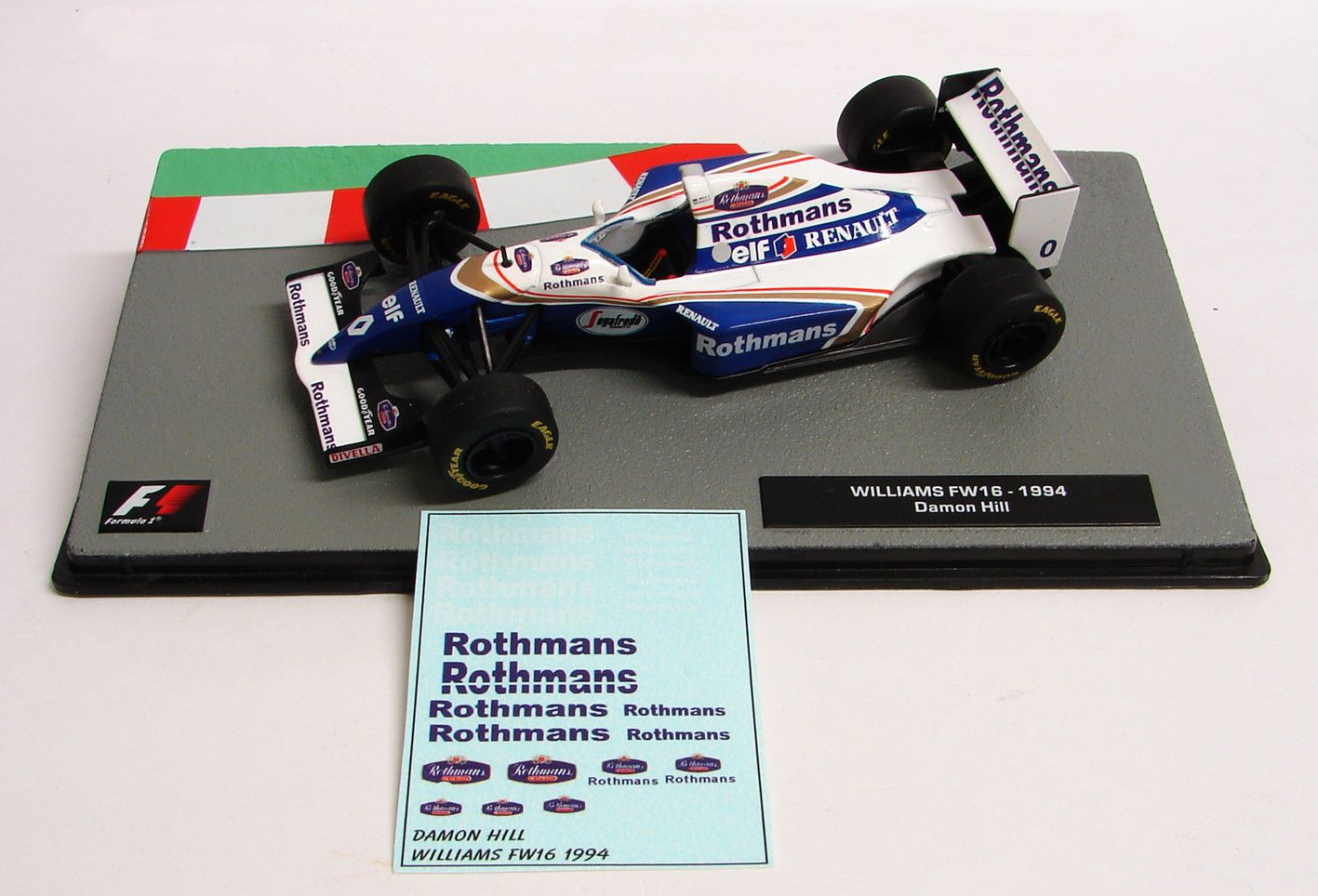 "Decals ""Rothmans"" - Williams FW 16 1994/ Damon Hill"