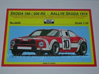 Resin kit 1/24 - Škoda 180/200 RS/ Rallye Škoda 1974- Reji model