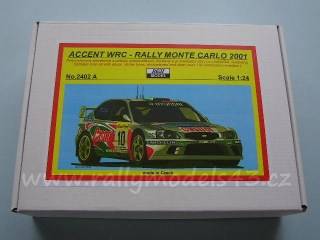 Resin kit 1/24 - Hyundai Accent WRC, Monte Carlo 2001/ Liatti, McRae- Reji model