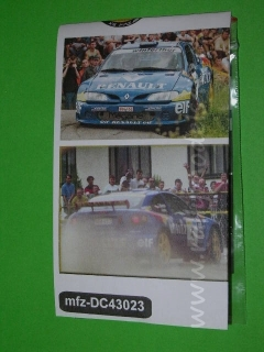 Decal 1/43 MF Zone - Renault Megane Maxi Kulig- 55 Rally of Poland 1998