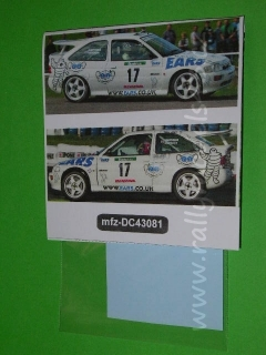 Decal 1/43 MF Zone - Ford Escort RS Cosworth Marchbank  - Rally Bohemia 2003