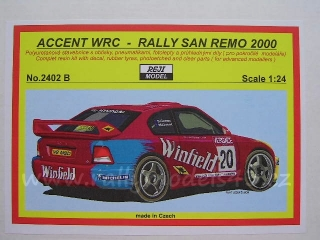 Resin kit 1/24 - Hyundai Accent WRC, Rally San Remo 2000/ M. Guest - Reji model