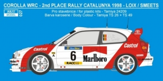 "Decal 1/24 Reji model - Toyota Corolla WRC ""Marlboro"" - Catalunya 1998"