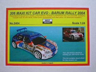 Resin kit 1/24 - Peugeot 306 Maxi Kit Car - Barum Rally 2004 - Reji model