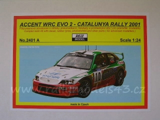 Resin kit 1/24 - Hyundai Accent WRC Evo2, Catalunya 01/ Liatti, A. McRae