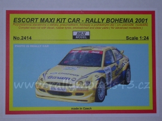 Resin kit 1/24 - Ford Escort Kit Car - Rally Bohemia 2001 - Reji model