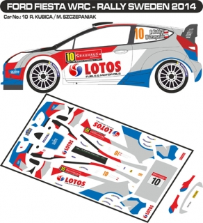 Decal 1/43 MF Zone - Ford Fiesta WRC R. Kubica - Rally Sweden 2014