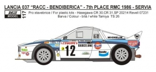 Decal 1/24 Reji model - Lancia 037 Rally Monte Carlo 1986 - S. Servia