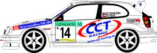 Decal 1/24 MF Zone - Toyota Corolla WRC - V. Pech/ Semperit Rally 2001