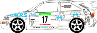 Decal 1/24 MF Zone - Ford Escort RS Cosworth - Marchbank/ Rally Bohemia 2003
