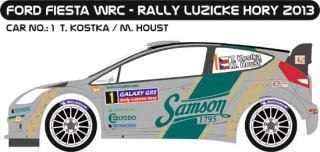 Decal 1/24 MF Zone - Ford Fiesta WRC - T. Kostka/ Rally Lužické Hory 2013