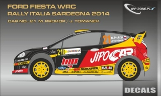 Decal 1/24 MF Zone - Ford Fiesta WRC - M. Prokop/ Rally Italia Sardegna 2014