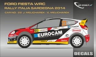 Decal 1/24 MF Zone - Ford Fiesta WRC - J. Melichárek/ Rally Italia Sardegna 2014