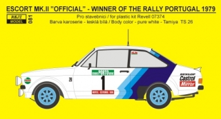 Decal 1/24 Reji model - Ford Escort MK.II - Winner Rally Portugal 1979
