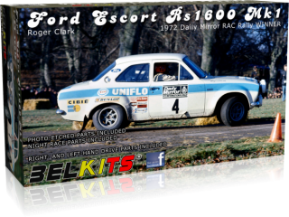 Plastic kit 1/24 - Ford Escort RS1600 Mk I - R. Clark