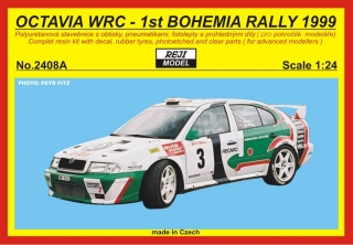 Resin kit 1/24 - Škoda Octavia WRC - Winner Bohemia rally 1999 - Triner / Hůlka