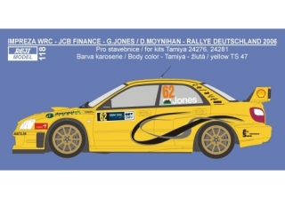 Decal 1/24 Reji model - Subaru Impreza WRC Rally Deutschland 2006 - G. Jones