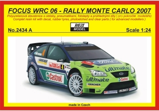 Resin kit 1/24 - Ford Focus WRC, Rally Monte Carlo 2007 - Hirvonen