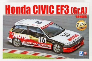Plastic kit 1/24 - HONDA CIVIC EF3 1988 MOTUL
