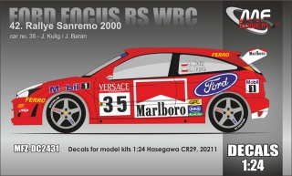 Decal 1/24 MF Zone - Ford Focus WRC - Kulig/ Rally San Remo 2000