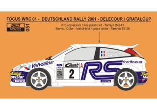 Decal 1/24 Reji model - Ford Focus WRC 01 Rally Deutschland 2001 – Delecour