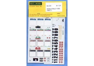 Decal 1/24 Reji model - Decal – World rally 1999 Part II