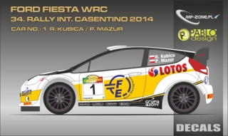 Decal 1/24 MF Zone - Ford Fiesta WRC - 34.Rally Int.Castentino 2014/ R. Kubica