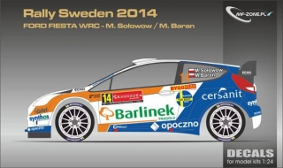 Decal 1/24 MF Zone - Ford Fiesta WRC - Rally Sweden 2014/ M. Solowow