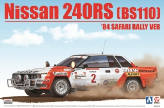 Plastic kit 1/24 - Nissan 240RS - Safari Rally 1984