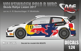 Decal 1/24 MF Zone - Volkswagen Polo R WRC - Rally Liezen 2017/ Baumschlager