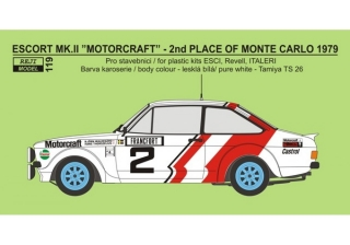 "Transkit 1/24 Reji model - Ford Escort Mk.II RS 1800 ""Motorcraft"" - 2nd RMC"