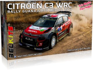 Plastic kit 1/24 - Citroen C3 WRC, Rally Mexico 2017/ K. Meeke