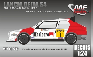 Decal 1/24 MF Zone - Lancia Delta S4 - Rally RACE Soria 1987/ Onoro, Ortiz