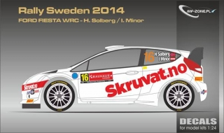 Decal 1/24 MF Zone - Ford Fiesta WRC - Rally Sweden 2014/ H. Solberg