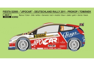 "Decal 1/43 Reji Model - Ford Fiesta S2000 ""JIPOCAR"" - Deutschland rallye 2011"