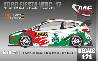 Decal 1/24 MF Zone - Ford Fiesta WRC  A. Kremer - ADAC Rallye Deutschland 2017