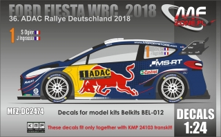 Decal 1/24 MF Zone - Ford Fiesta WRC  S. Ogier - ADAC Rallye Deutschland 2018