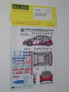Decal 1/43 Reji Model - Peugeot 206 WRC - Rallye Antibes 02/ J. Kulig