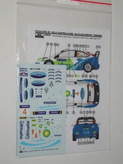 Decal 1/43 Reji Model - Ford Focus WRC - Australia 06/ R. Kresta